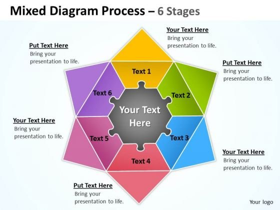 Mba Models And Frameworks Mixed Diagram Process 6 Stages Consulting Diagram