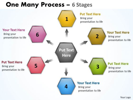 Mba Models And Frameworks One Many Process 6 Stages Consulting Diagram