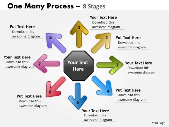 Mba Models And Frameworks One Many Process 8 Stages Consulting Diagram