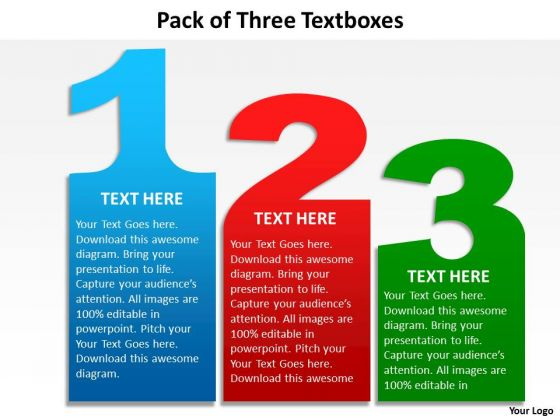 Mba Models And Frameworks Pack Of Three Textboxes Sales Diagram