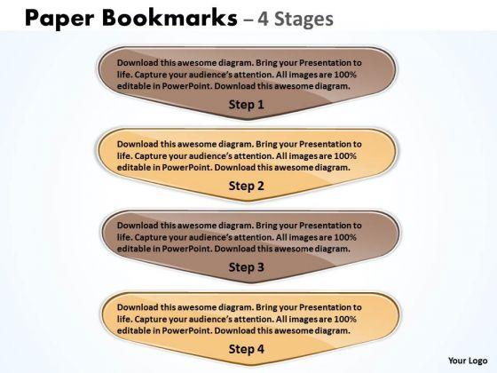 Mba Models And Frameworks Paper Bookmarks 4 Stages Sales Diagram
