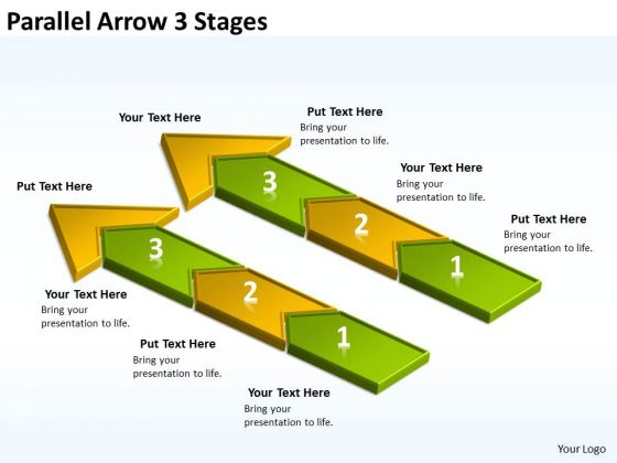 Mba Models And Frameworks Parallel Arrow 3 Stages Consulting Diagram