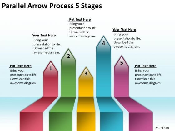 Mba Models And Frameworks Parallel Arrow Process 5 Stages Consulting Diagram