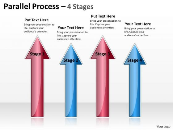 Mba Models And Frameworks Parallel Process 4 Stages Business Diagram
