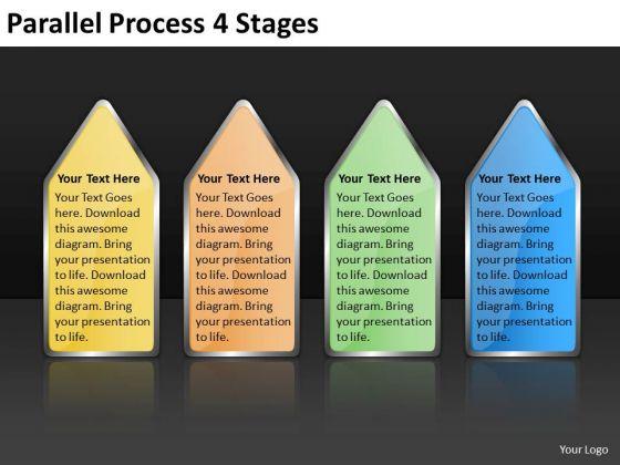 Mba Models And Frameworks Parallel Process 4 Stages Business Framework Model