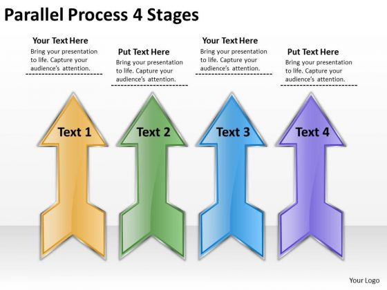 Mba Models And Frameworks Parallel Process 4 Stages Consulting Diagram