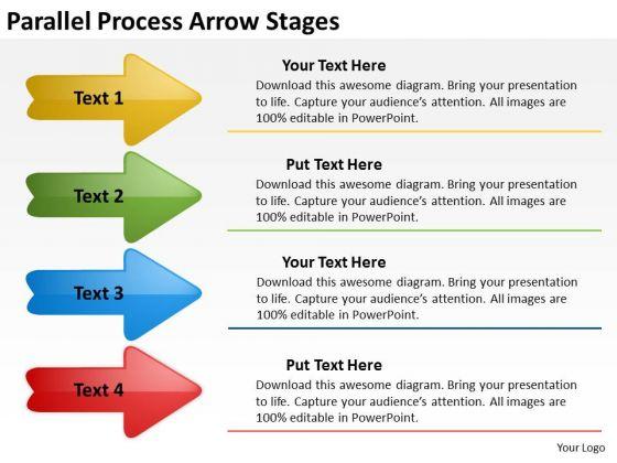 Mba Models And Frameworks Parallel Process Arrow Stages Business Framework Model