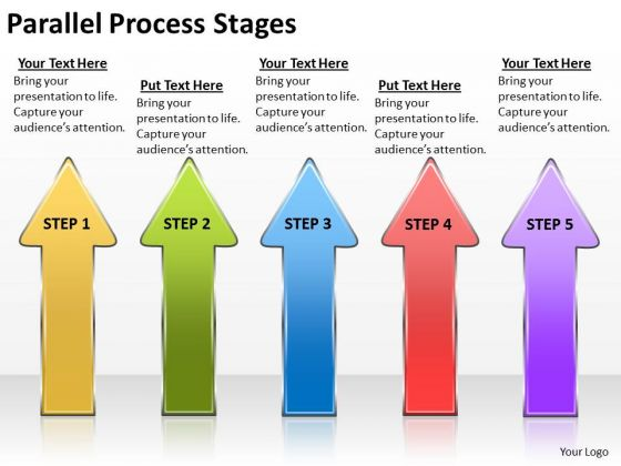 Mba Models And Frameworks Parallel Process Stages Marketing Diagram
