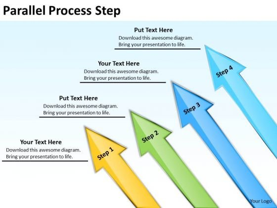 Mba Models And Frameworks Parallel Process Step Marketing Diagram