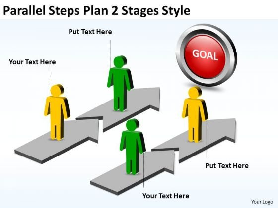 Mba Models And Frameworks Parallel Steps Plan 2 Stages Style Sales Diagram