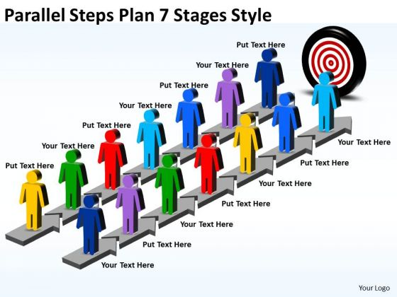 Mba Models And Frameworks Parallel Steps Plan 7 Stages Style Strategy Diagram