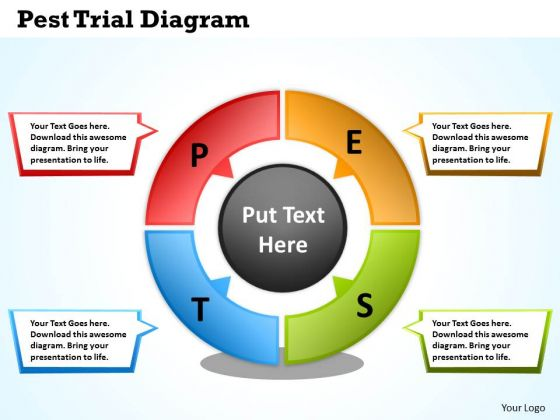 Mba Models And Frameworks Pest Trial Diagram Business Diagram