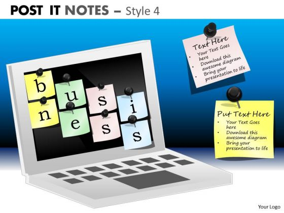 Mba Models And Frameworks Post It Notes Style 4 Business Framework Model