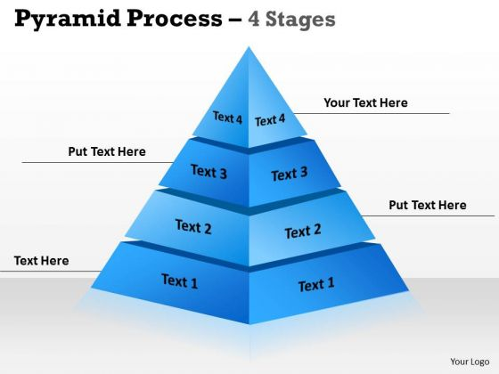 Mba Models And Frameworks Pyramid With 4 Stages For Sales Strategic Management