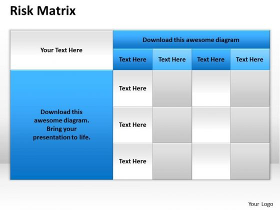 Mba Models And Frameworks Risk Matrix Illustrative Strategy Diagram