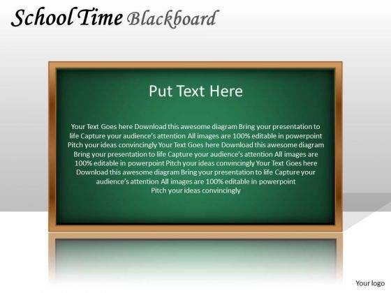 Mba Models And Frameworks School Time Blackboard Strategy Diagram