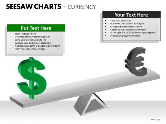 Mba Models And Frameworks Seesaw Charts Currency Business Diagram