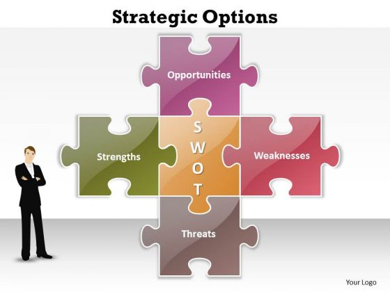 Mba Models And Frameworks Strategic Options Business Diagram