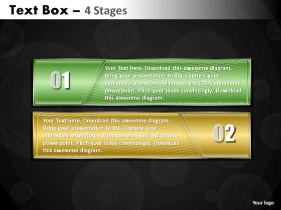 Mba Models And Frameworks Text Box Diagram 2 Stages Consulting Diagram