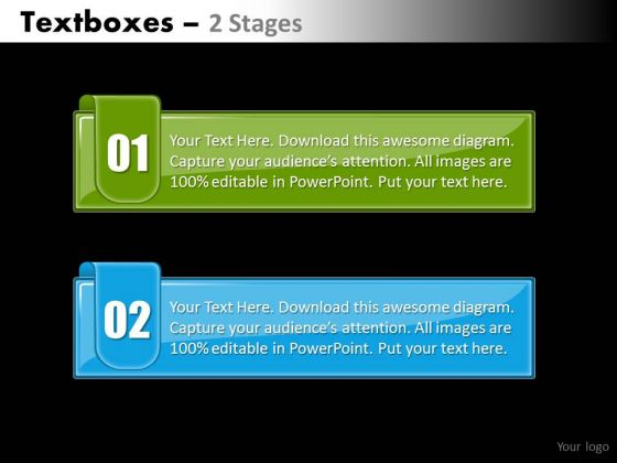 Mba Models And Frameworks Textboxes 2 Colorful Stage Marketing Diagram