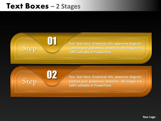 Mba Models And Frameworks Textboxes 2 Stages Marketing Diagram