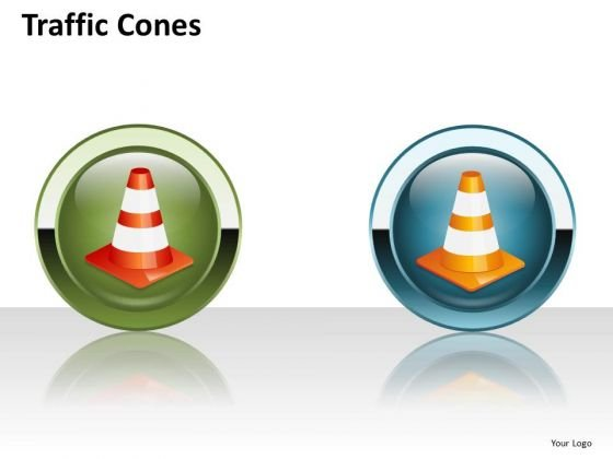 Mba Models And Frameworks Traffic Cones Business Diagram