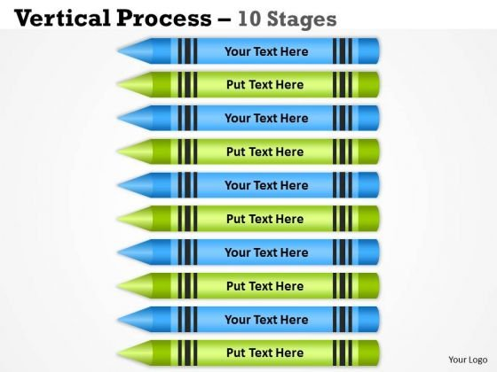 Mba Models And Frameworks Vertical Process 10 Stages Consulting Diagram