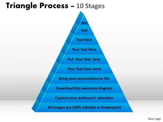 sales_diagram_10_staged_triangle_process_flow_consulting_diagram_1