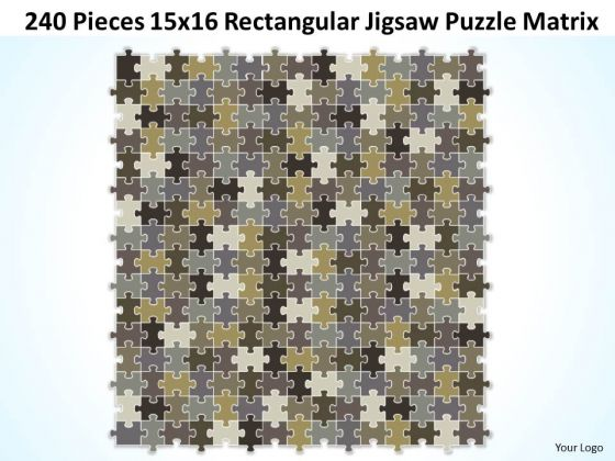 Sales Diagram 240 Pieces 15x16 Rectangular Jigsaw Puzzle Matrix Consulting Diagram