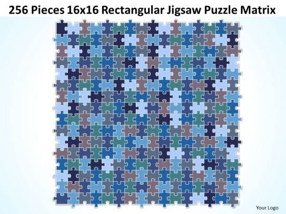 Sales Diagram 256 Pieces 16x16 Rectangular Jigsaw Puzzle Matrix Consulting Diagram