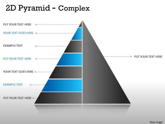 Sales Diagram 2d Pyramid For Business Process Strategy Diagram
