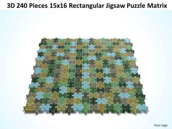 Sales Diagram 3d 240 Pieces 15x16 Rectangular Jigsaw Puzzle Matrix Consulting Diagram
