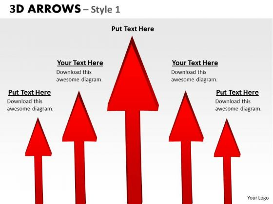 Sales Diagram 3d Arrows Style 1 Business Finance Strategy Development