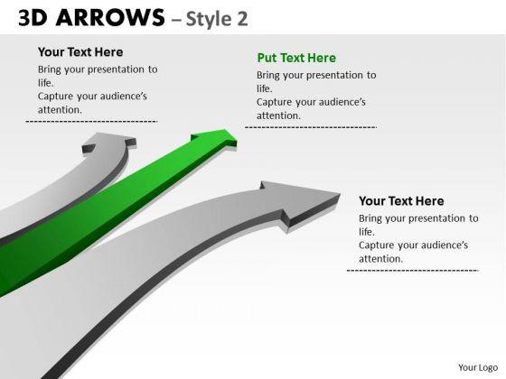 Sales Diagram 3d Arrows Styli Business Cycle Diagram