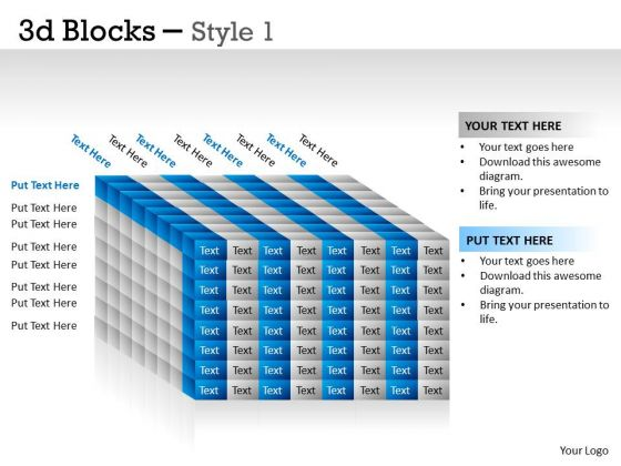 Sales Diagram 3d Blocks Style Mba Models And Frameworks