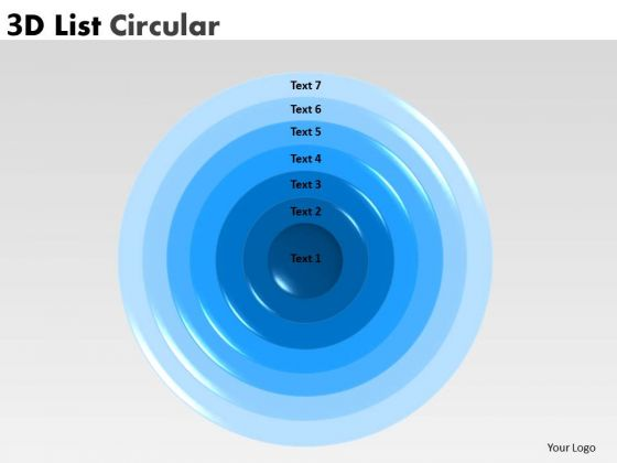 Sales Diagram 3d Circular Business 7 Stages Consulting Diagram