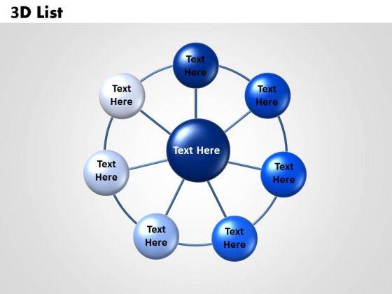 Sales Diagram 3d Circular Templates List Marketing Diagram