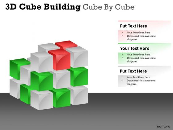 Sales Diagram 3d Cube Building Cube By Cube Business Cycle Diagram