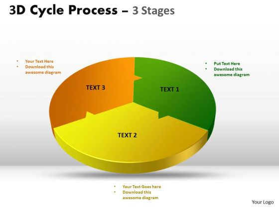 Sales Diagram 3d Cycle Templates Process Three Flow Chart 3 Stages Business Cycle Diagram