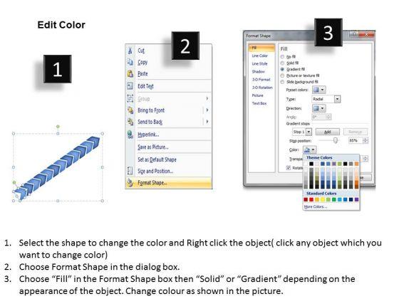 sales_diagram_3d_linear_arrow_12_stages_marketing_diagram_3