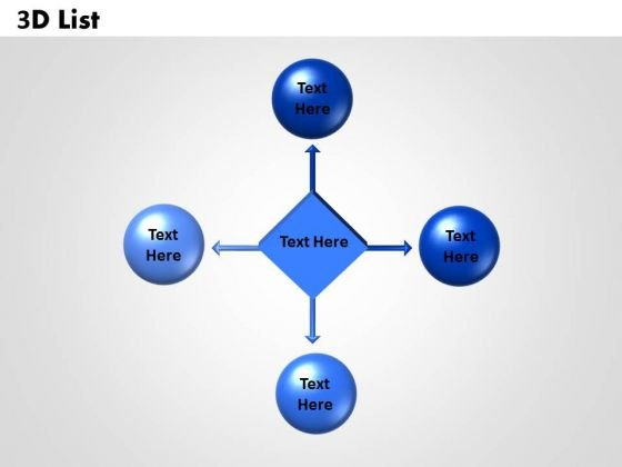 Sales Diagram 3d List Circular Business Diagram