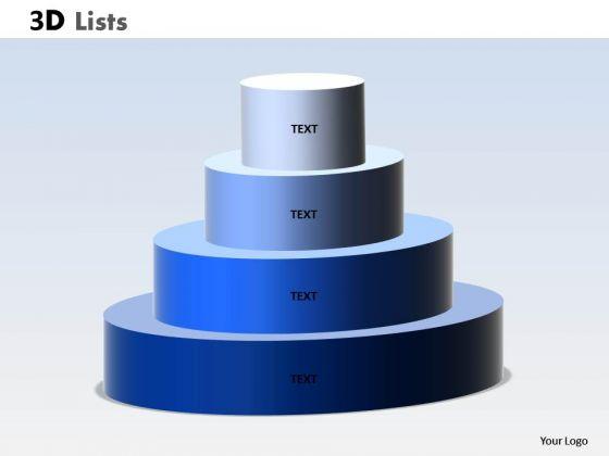 Sales Diagram 3d List Circular Process Diagram Consulting Diagram