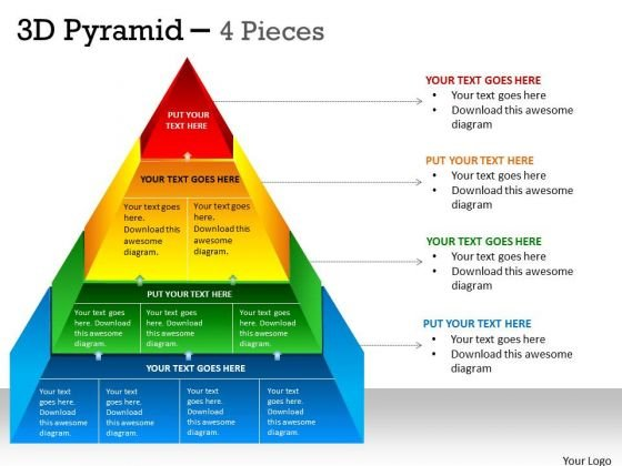 Sales Diagram 3d Pyramid 4 Pieces Diagram Marketing Diagram
