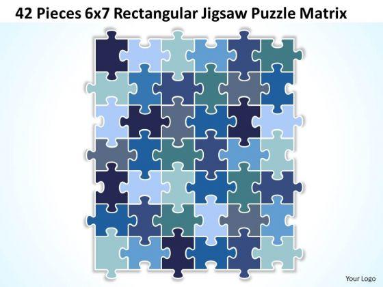 Sales Diagram 42 Pieces 6x7 Rectangular Jigsaw Puzzle Matrix Consulting Diagram