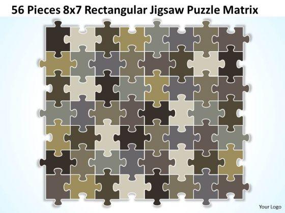 Sales Diagram 56 Pieces 8x7 Rectangular Jigsaw Puzzle Matrix Consulting Diagram