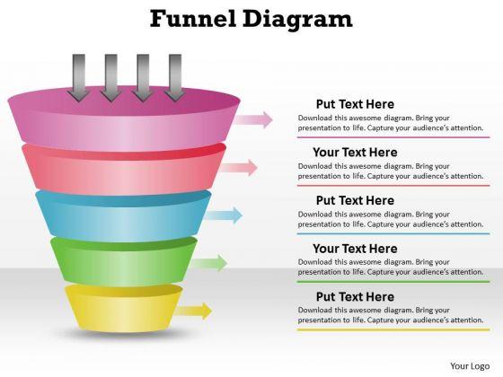 Sales Diagram 5 Staged Unique Design Business Funnel Diagram Strategy Diagram