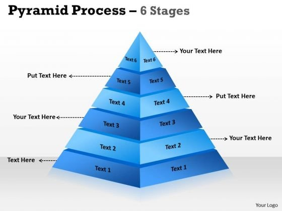 Sales Diagram 6 Staged Pyramid For Business Framework Model
