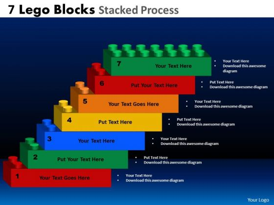Sales Diagram 7 Lego Blocks Stacked Proces Business Framework Model
