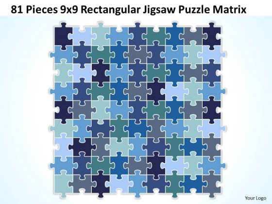 Sales Diagram 81 Pieces 9x9 Rectangular Jigsaw Puzzle Matrix Consulting Diagram