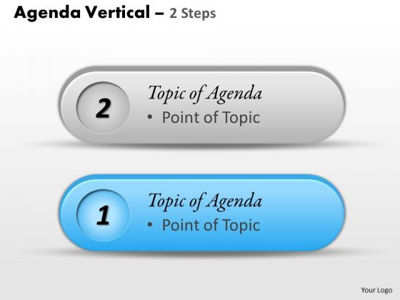 Sales Diagram Agenda Vertical 2 Steps Business Diagram